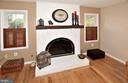 GAS BURNING MASONRY FIREPLACE WITH RAISED HEARTH - 9200 MACSWAIN PL, SPRINGFIELD