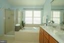 Master Bath w/ separate soaking tub & jets - 42919 SHELBOURNE SQ, CHANTILLY