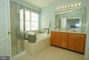 Master Bath w/ double vanities - 42919 SHELBOURNE SQ, CHANTILLY