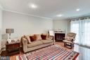 Family Room with Fireplace - 1814 N GEORGE MASON DR, ARLINGTON