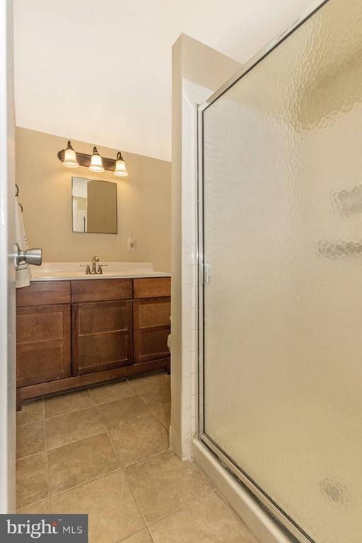 Master Bath with Ceramic Tile and New Sink/Vanity - 9904 WALKER HOUSE RD #4, GAITHERSBURG