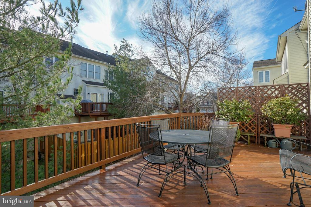 Large private deck - 42919 SHELBOURNE SQ, CHANTILLY