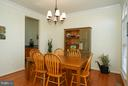 LR/dining room combo off of kitchen - 42919 SHELBOURNE SQ, CHANTILLY