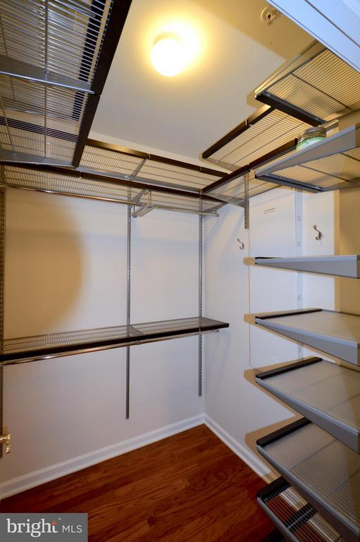 Walk-in closet #2 - custom shelving! - 20365 BELMONT PARK TER #104, ASHBURN