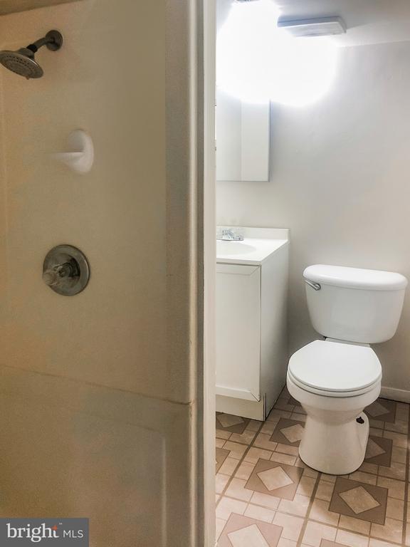 Full Bathroom in Basement - 7202 CATLETT ST, SPRINGFIELD