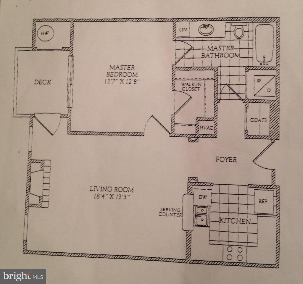 Floor Plan - 7011 FALLS REACH DR #310, FALLS CHURCH