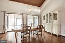 Dining opens to expansive sunroom - 23009 COBB HOUSE RD, MIDDLEBURG