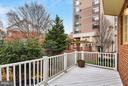 Deck overlooks trees - 1221 FIDLER LN, SILVER SPRING