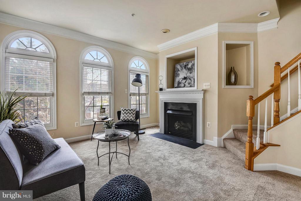 Living Room w/ gas fireplacer - 1221 FIDLER LN, SILVER SPRING