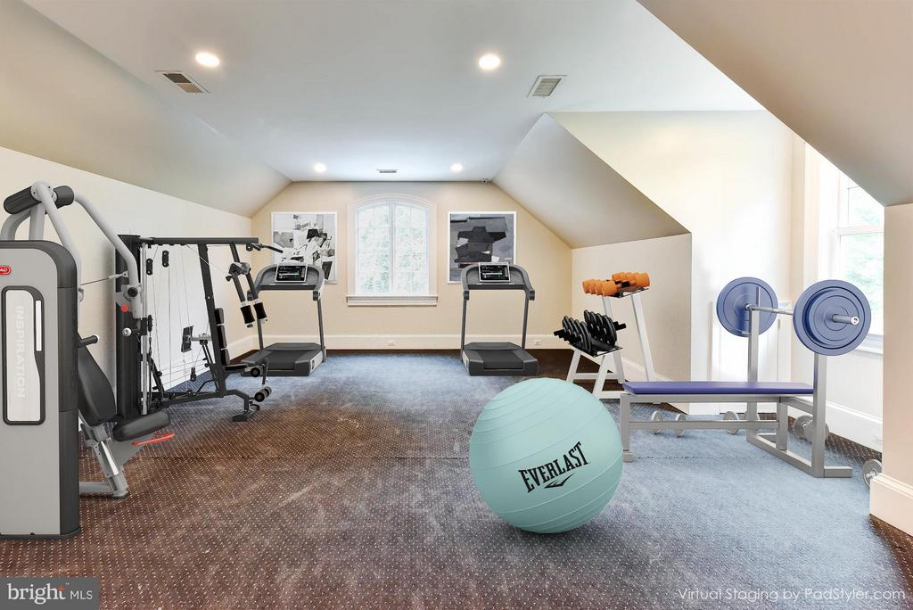 Bedroom# 6 or Bedroom Level Gym - 7615 SOUTHDOWN RD, ALEXANDRIA