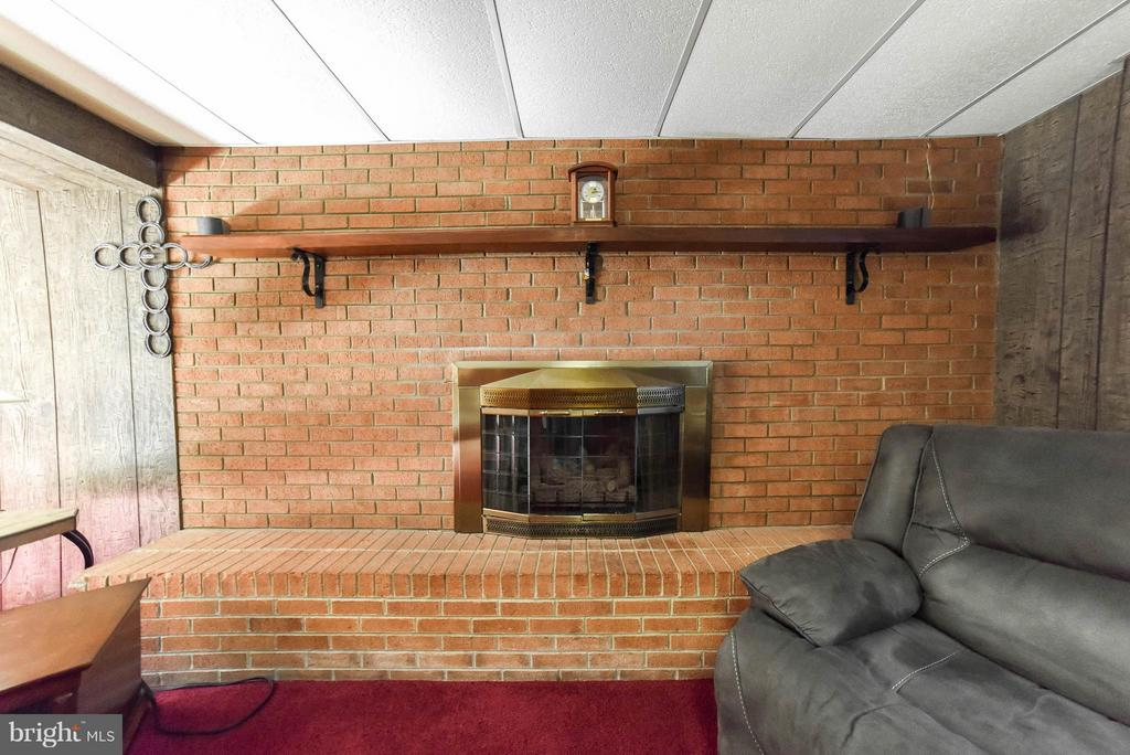 FAMILY ROOM FIREPLACE & HEARTH - 13995 PETZOLD DR, WALDORF