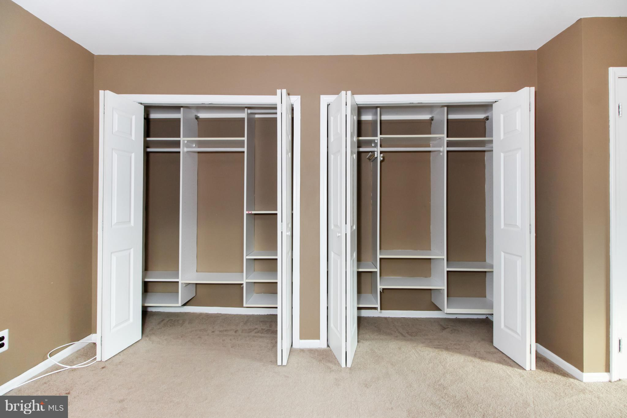 closets in main bedroom
