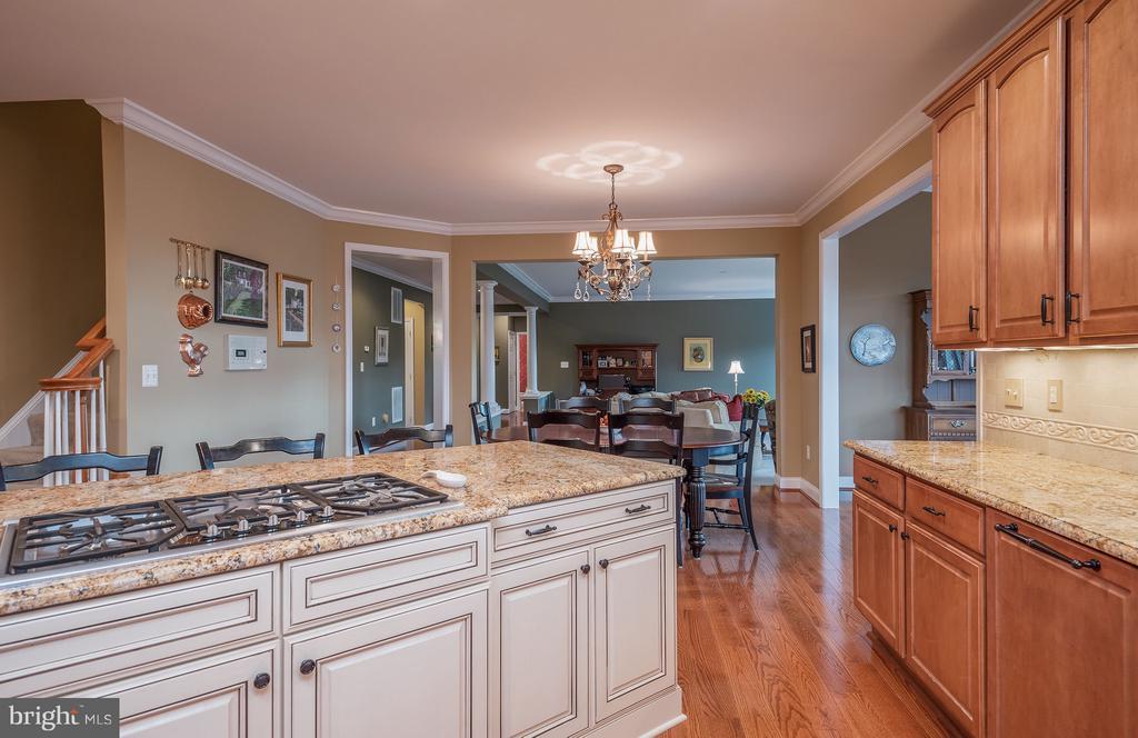 Kitchen opens to family room - 10 BOSTON CT, FREDERICKSBURG