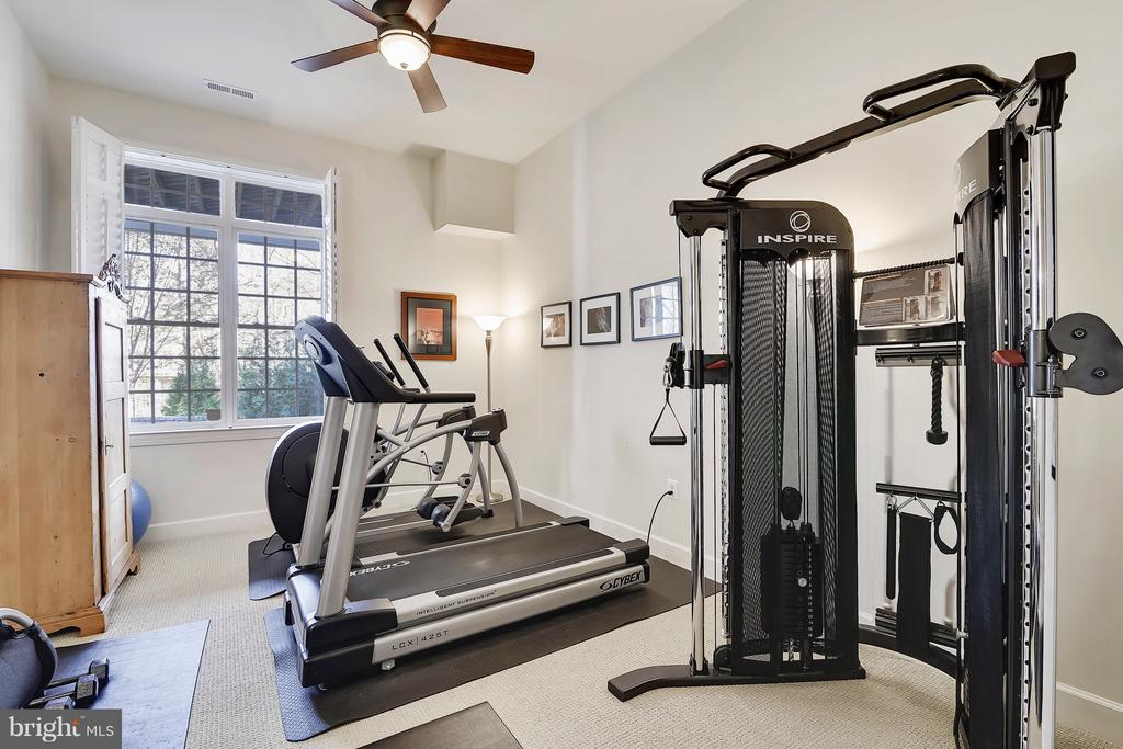Lower Level Bedroom or exercise room - 43468 CASTLE HARBOUR TER, LEESBURG
