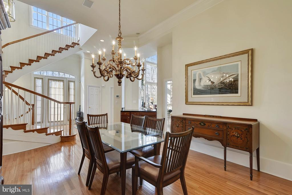 Formal Dining Room and Curved Stairs - 43468 CASTLE HARBOUR TER, LEESBURG