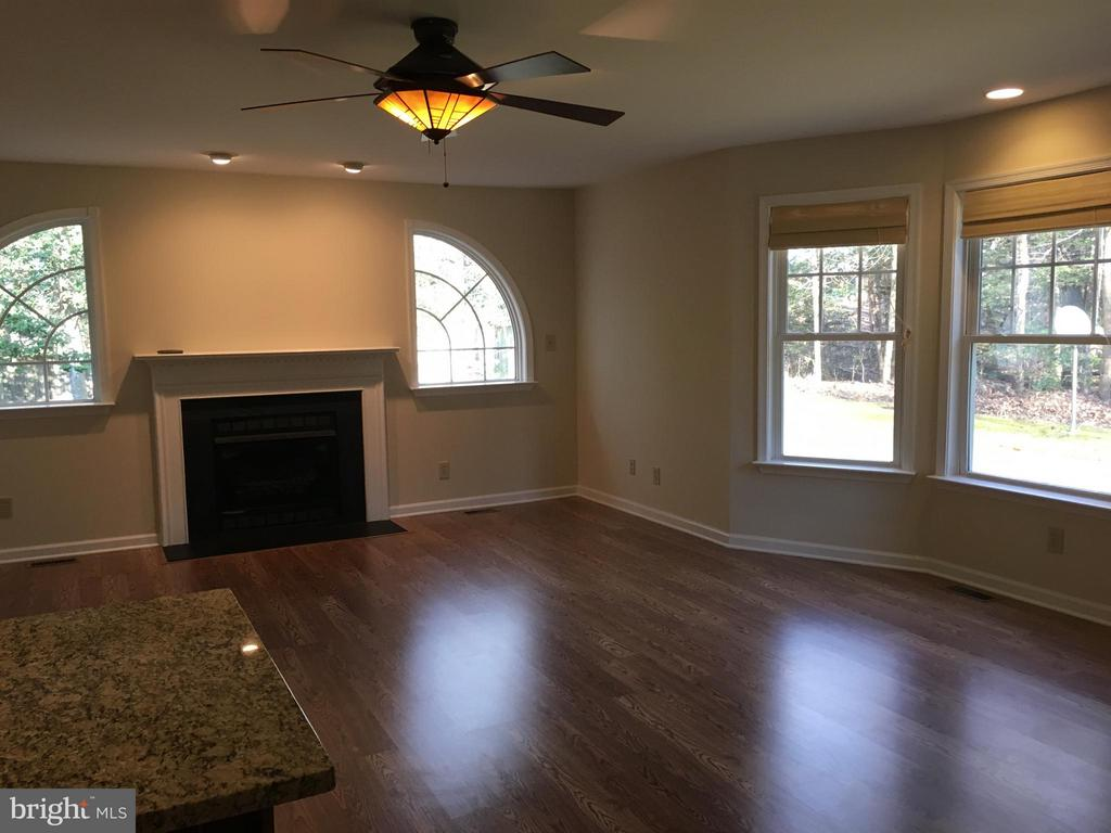 Spacious family toom with fireplace & bay window - 8427 BATTLE PARK DR, SPOTSYLVANIA