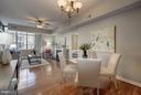 Bright and spacious Living Room/Dining Room - 1000 N RANDOLPH ST #305, ARLINGTON