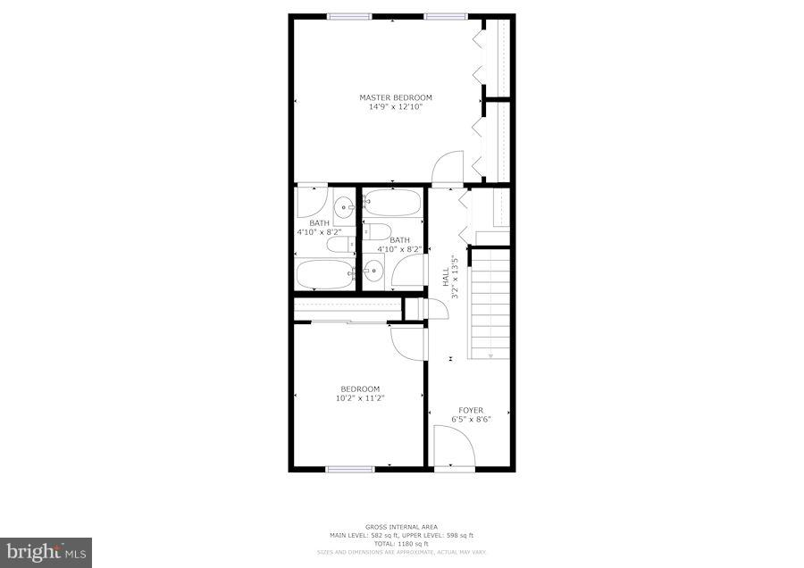 Bedroom Level Floor Plan - 3249 SUTTON PL NW #C, WASHINGTON
