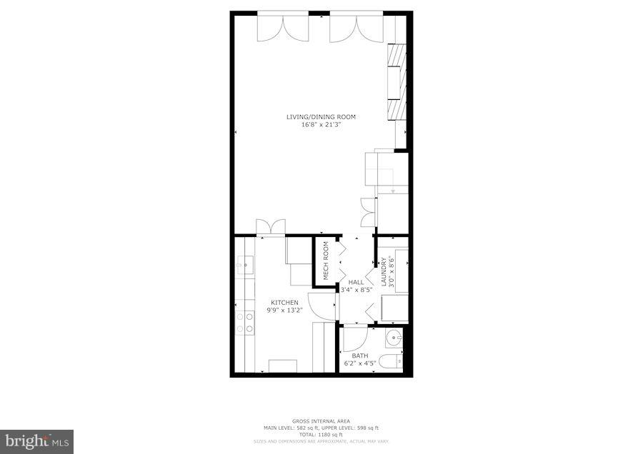 Main Living Floor Plan - 3249 SUTTON PL NW #C, WASHINGTON