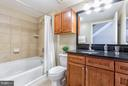 Three and a half modern finished bathrooms. - 616 E ST NW #1150, WASHINGTON