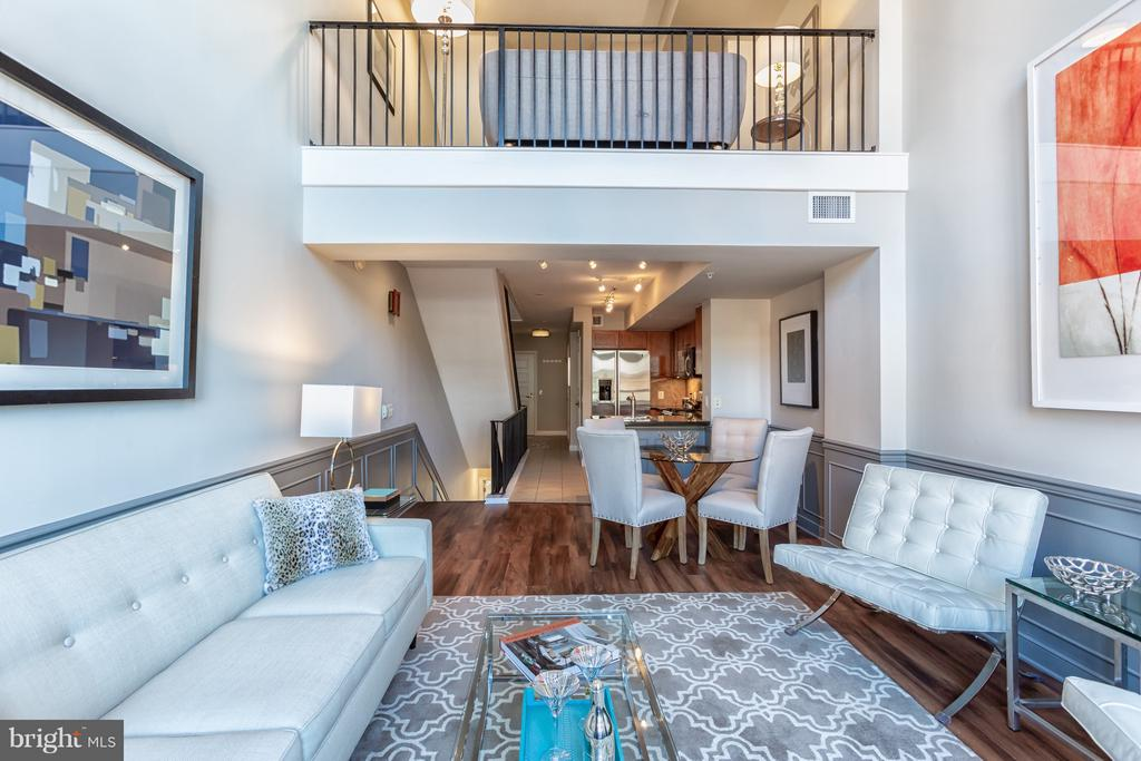Living room with balcony perfect for entertaining! - 616 E ST NW #1150, WASHINGTON