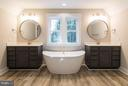 Exquisite dual vanities and Free Standing Bathtub - 6607 ACCIPITER DR, NEW MARKET