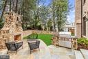 Flagstone Patio with Gas Grill - 3200 ABINGDON ST, ARLINGTON
