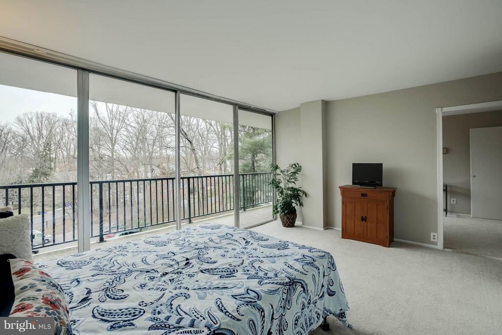 Beautiful views from the master bedroom. - 3333 W UNIVERSITY BLVD #511, KENSINGTON