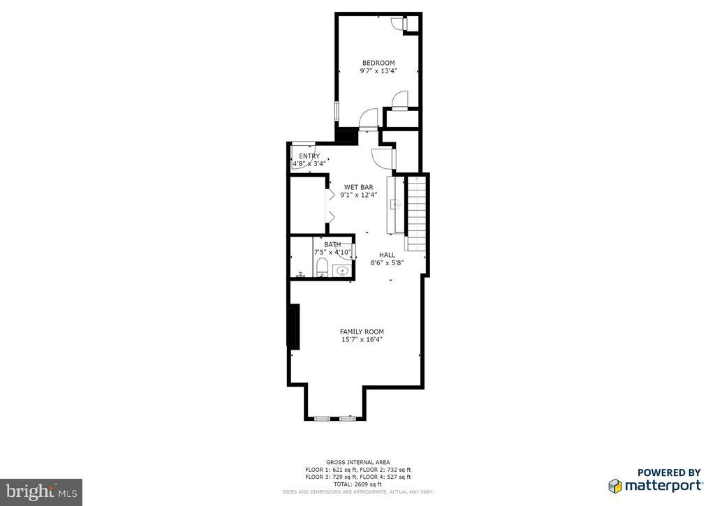Main Floor Layout - 948 WESTMINSTER ST NW, WASHINGTON