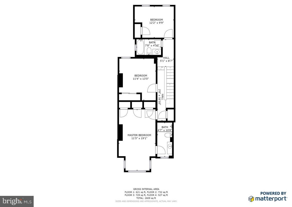 3rd Floor Layout - 948 WESTMINSTER ST NW, WASHINGTON