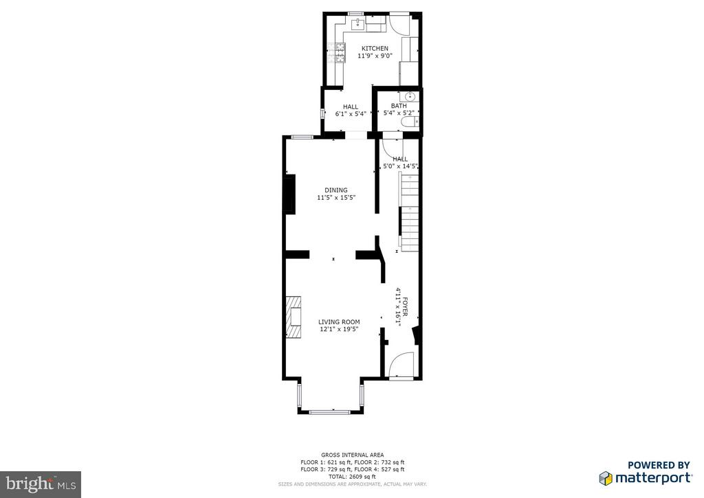 2nd Floor Layout - 948 WESTMINSTER ST NW, WASHINGTON