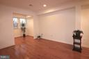 Living room with recessed lighting - 10328 SAGER AVE #113, FAIRFAX