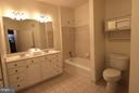 Master bedroom with vanite, double sink, shower/ba - 10328 SAGER AVE #113, FAIRFAX