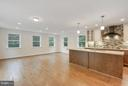 Open concept  kitchen, dining, living - 5201 MOUNT VERNON MEMORIAL HWY, ALEXANDRIA