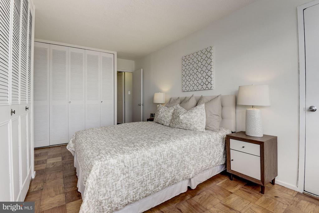 Bedroom includes generous closet space - 1301 DELAWARE AVE SW #N-518, WASHINGTON