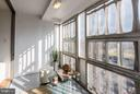 Sunroom with views of Southwest DC - 1301 DELAWARE AVE SW #N-518, WASHINGTON