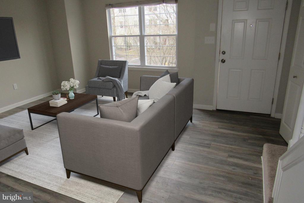 ~Virtually Staged Living Room~ - 7144 MAHOGANY DR #3, LANDOVER