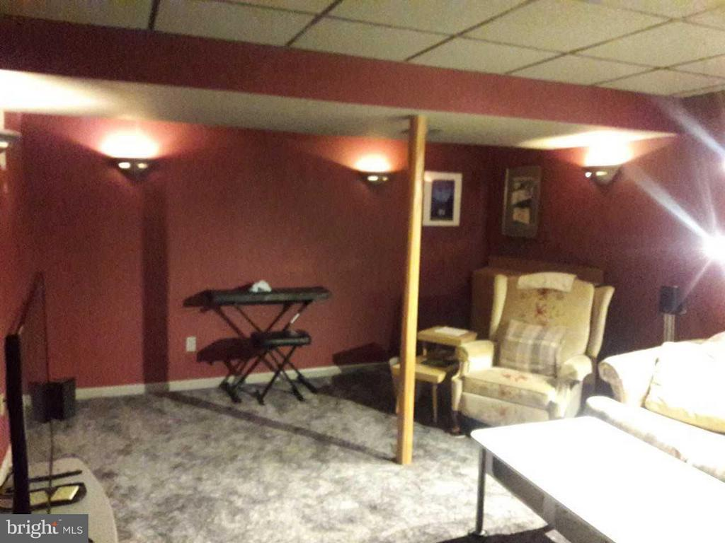 Large media room with theater lighting - 14789 STATLER DR, WOODBRIDGE