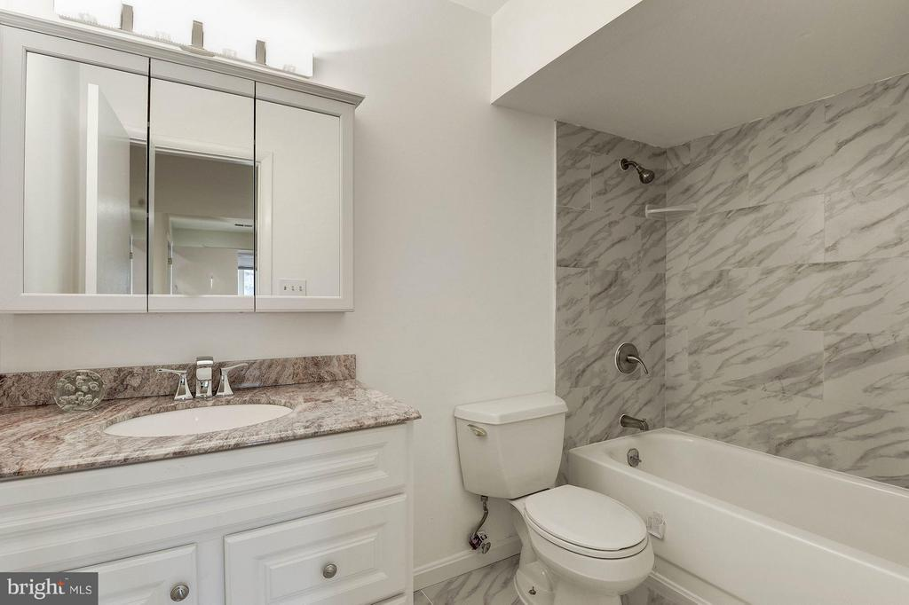 Updated lower level full bath - 2025 CHADDS FORD DR, RESTON