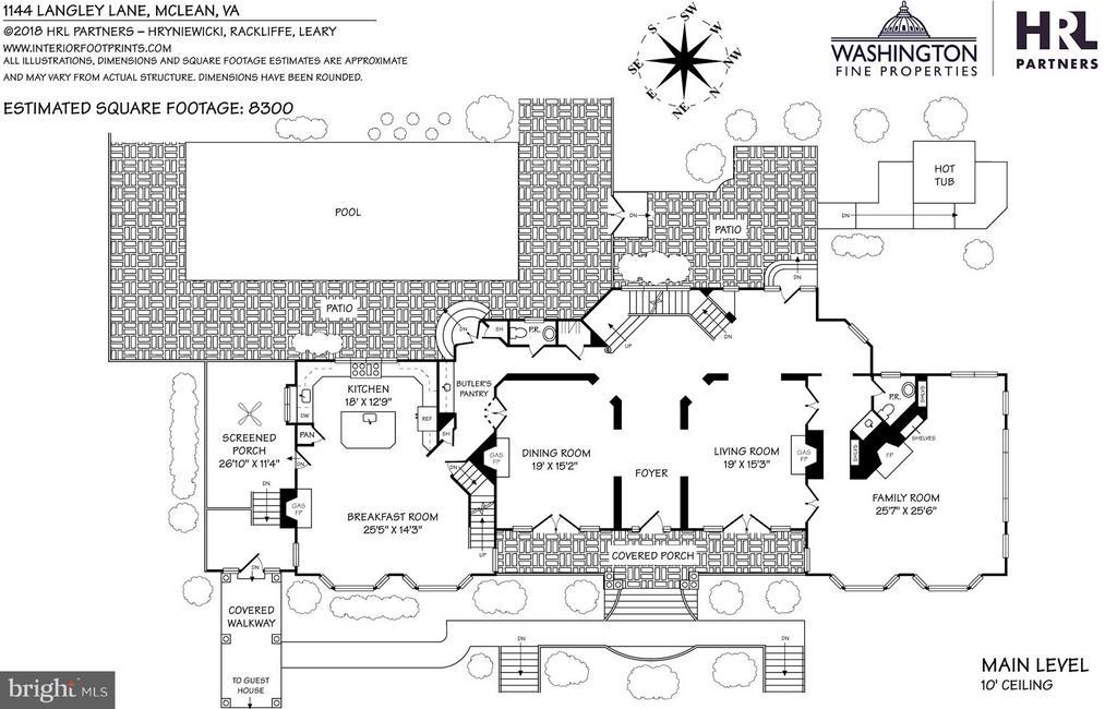 Floor Plan - Main Level - 1144 LANGLEY LN, MCLEAN