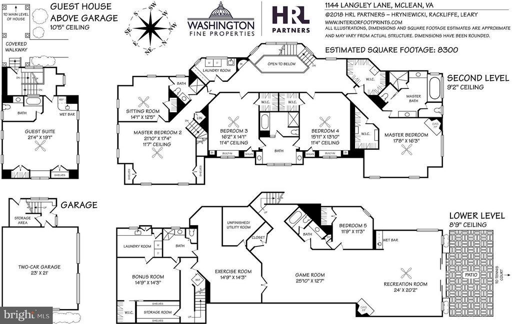 Floor Plans - Second/Lower Levels + Garage - 1144 LANGLEY LN, MCLEAN