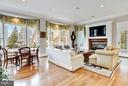 Breakfast Room w/ Second Staircase - 1144 LANGLEY LN, MCLEAN