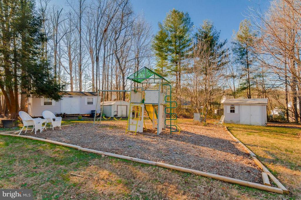 Includes 3 sheds, playground equipment - 11316 LOCH NESS DR, FREDERICKSBURG