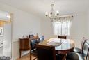 Dining room - 11316 LOCH NESS DR, FREDERICKSBURG