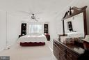 Large master bedroom - 11316 LOCH NESS DR, FREDERICKSBURG