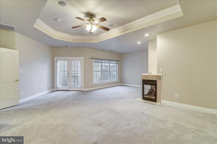 Master Bedroom with Gas Fireplace - 18987 ROSSBACK TER, LEESBURG