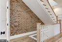 Exposed brick on 3 levels - 311 F ST NE, WASHINGTON
