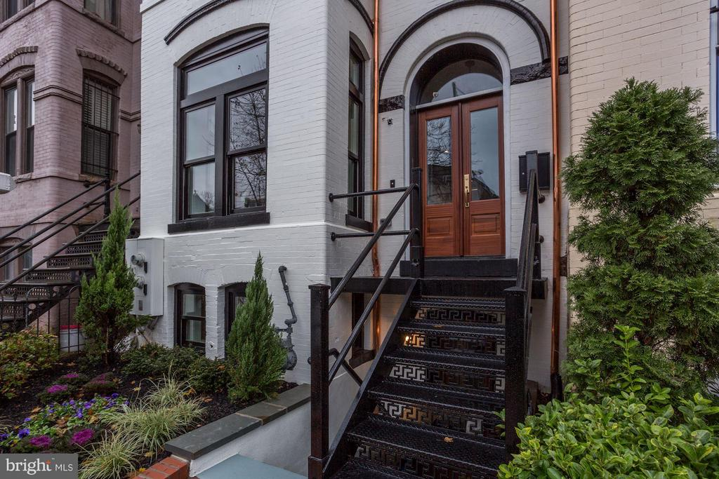 Mahogany Double Front door, copper drains - 311 F ST NE, WASHINGTON