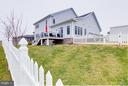 Huge fenced back yard - 41629 WHITE YARROW CT, ASHBURN