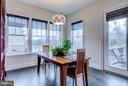Breakfast room overlooking backyard deck - 41629 WHITE YARROW CT, ASHBURN